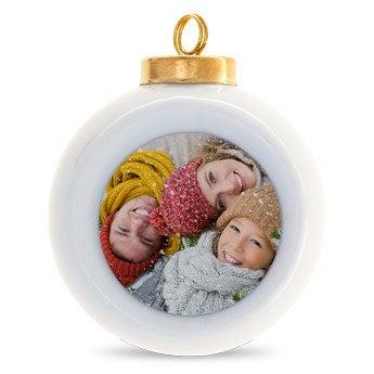 Kerstbal - Keramiek (6 stuks)
