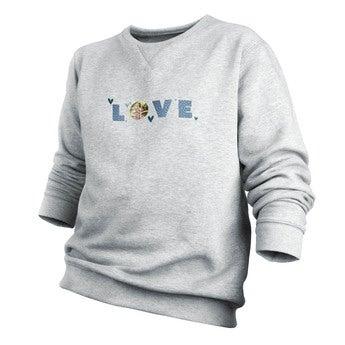 Custom sweatshirt - Menn - Grå - XL