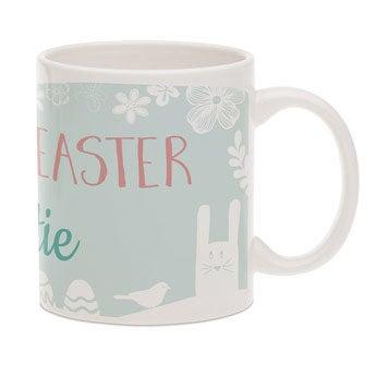 Wielkanocny kubek z tekstem