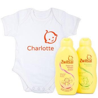 Babypflege Set + Baby Body mit Namen