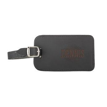 Kofferlabel - Leer - Zwart