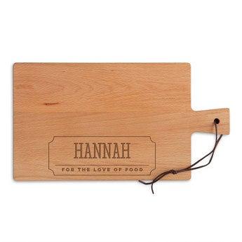 Dřevěná deska na sýr - buk - obdélník - krajina (M)