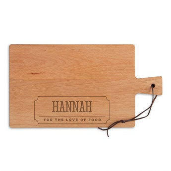 Wooden cheese board - Beech - Rectangle - Landscape (M)