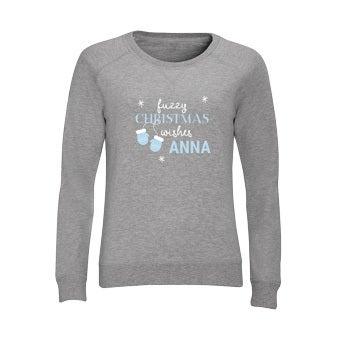 Dámsky vianočný sveter - Grey - XXL