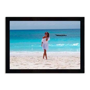Glazen fotolijst met foto - 30x21cm
