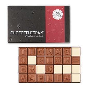 Chokolade telegram - 28 tegn
