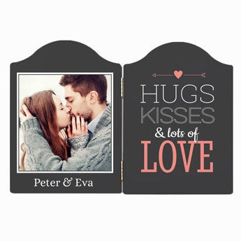 Hinged photo frame