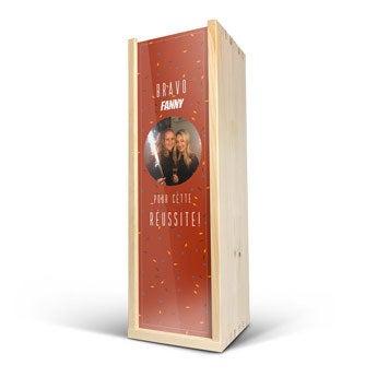 Caisse à vin personnalisée  - Deluxe