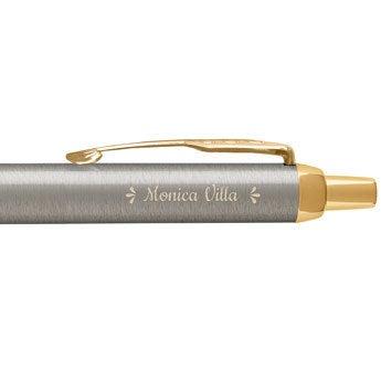 Parker - Penna a sfera IM - Metallo spazzolato (destrimano)