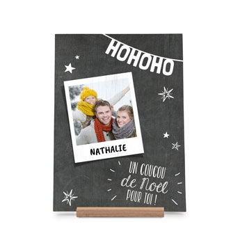 Carte de Noël en bois - Vertical