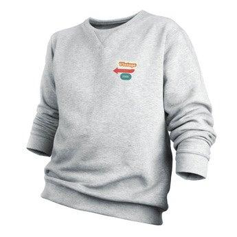 Tryckt tröja - Män - Grå - M