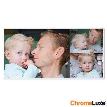 Chromaluxe Aluminium foto - Hvid - 80x40 cm