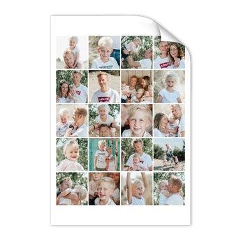 Papai & eu - cartaz da colagem da foto (50x75)