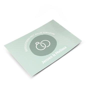 Carte postale photo - Anniversaire de mariage