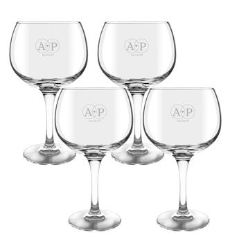 Gin and tonic glass - 4 pieces