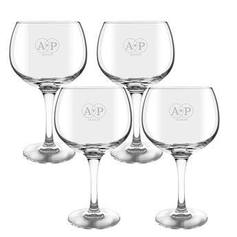 Gin og tonicglas (4 stykker)
