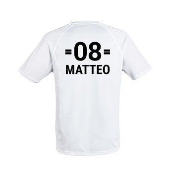Sportshirt bedrucken - Herren - M - Weiß