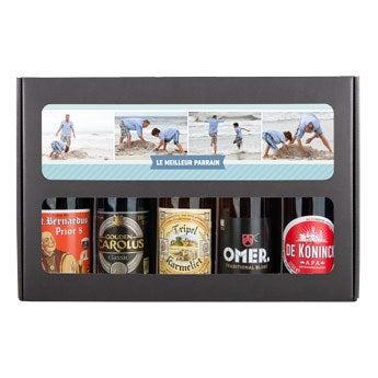 Coffret à bières parrain - Belge