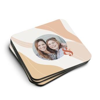 Coasters Hardboard Square (4 stk)