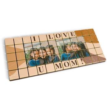 Puzzle photo en chocolat - 60 pièces