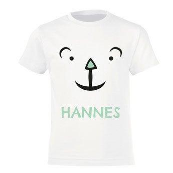 T-Shirt Kinder - Weiß - 4 Jahre