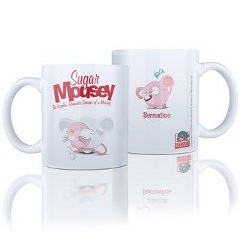 Caneca de Sugar Mousey com nome