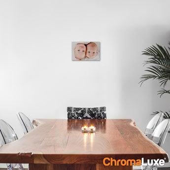 Chromaluxe Aluminium foto - Hvid - 20x15 cm