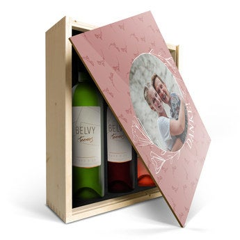 Belvy Weiß, Rot & Rosé- Personalisierte Kiste