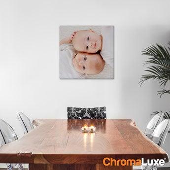 Chromaluxe Aluminium foto - Hvid - 40x40 cm