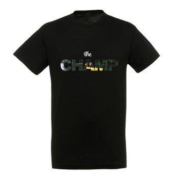 Personalised T-shirt – Men - Black - M