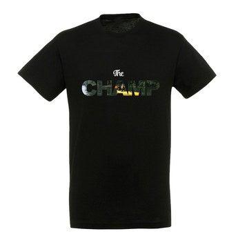 T-shirt - Mænd - Sort - M
