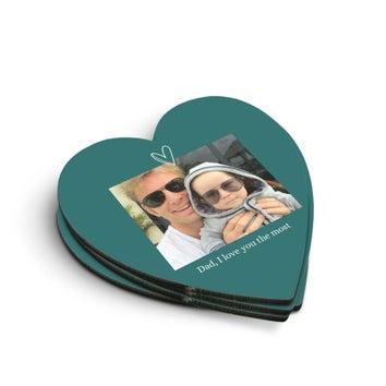Coasters em forma de coração (4 peças)