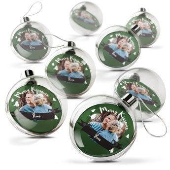 Transparante kerstbal (8 stuks)