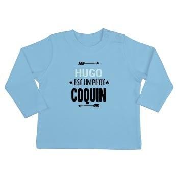 T-shirt bébé - Manches longues - Bleu ciel