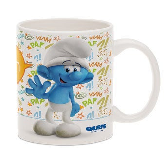 The Smurfs mug with name