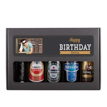 Øl gave sæt fødselsdag - hollandsk