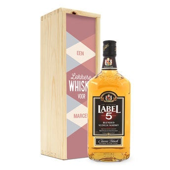 Label 5 whisky - In bedrukte kist