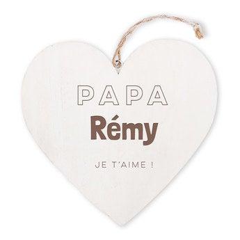 Coeur en bois - Fête des Pères