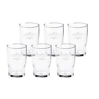 Personalisierte Gläser (6 Stück)