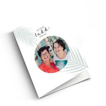 Takkekort med bilde - XL - Vertikalt