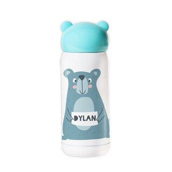 Edelstahl Trinkflasche für Kinder - Blau