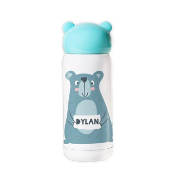 Personalised water bottle for kids - Blue
