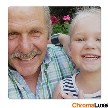 Chromaluxe Fototafel -  Weiß 15x15 cm