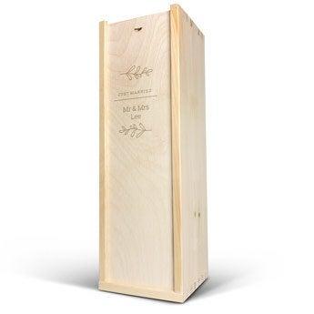 Caja de vino - Magnum - Tapa grabada