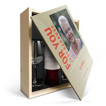 Confezione Stampata Vino con Bicchieri - Salentein Primus Malbec