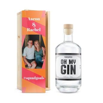 YourSurprise Gin - mit bedruckter Holzkiste