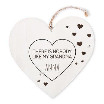 Drevené srdce babičky