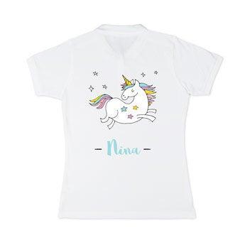 Poloshirt Damen - Weiß - L