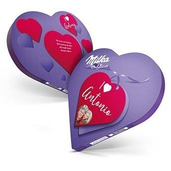Cuore Milka - confezione cioccolatini
