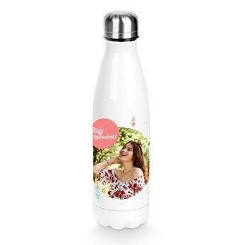 Botella de agua personalizada - Blanco